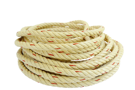 Division rope on a white background. Stock Photo