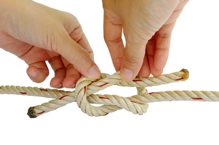 string together: Unstring which was tied a knot.