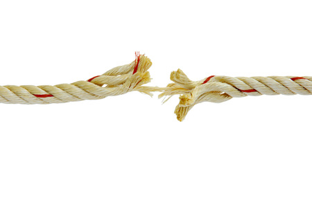 absent: Rope is almost absent, like that patience is nearing its end.
