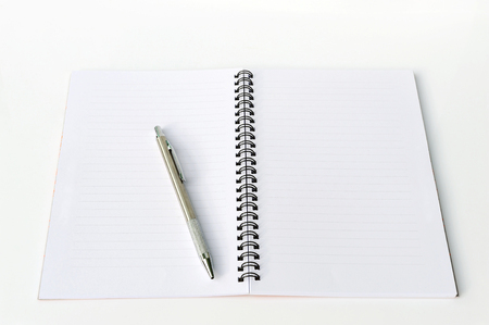 blank note book: Blank note book and pen.