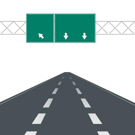 highway signs: Blank highway road signs.