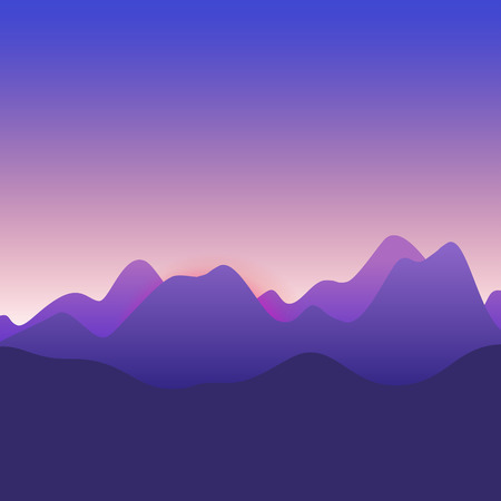 Sunrise background over the mountains
