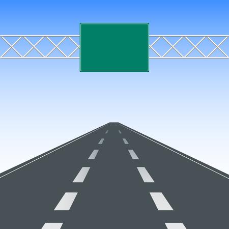 Lege snelweg verkeersborden.