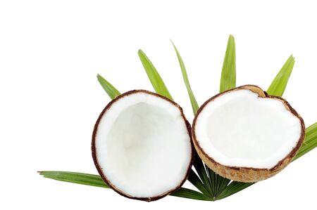 Coconut fruit on white background
