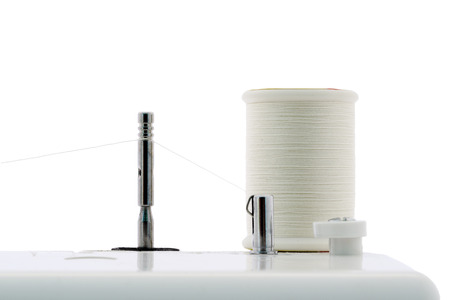 Threads on sewing machine