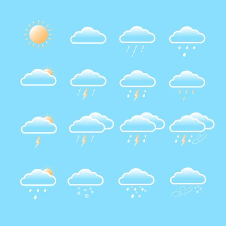 Sets of weather forecast
