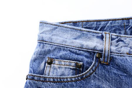 Jeans pocket and textured Stock Photo