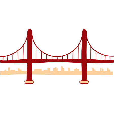 golden gate bridge: Golden Gate Bridge Illustration Illustration