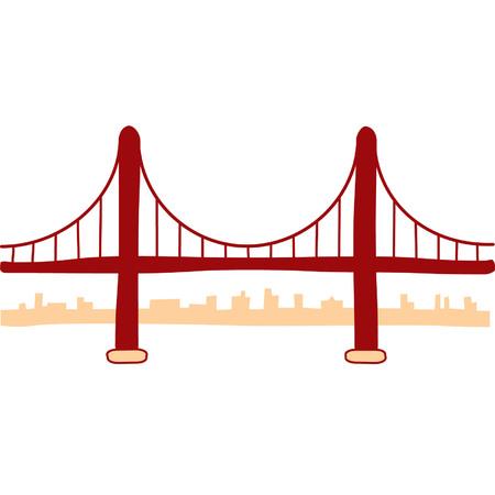 puente: Golden Gate Bridge Ilustraci�n