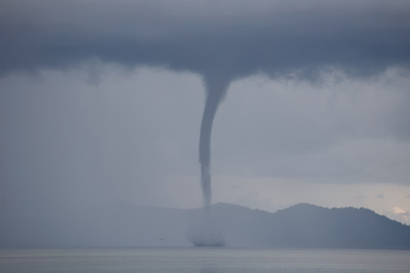 waterspout: Waterspout on the ocean Stock Photo