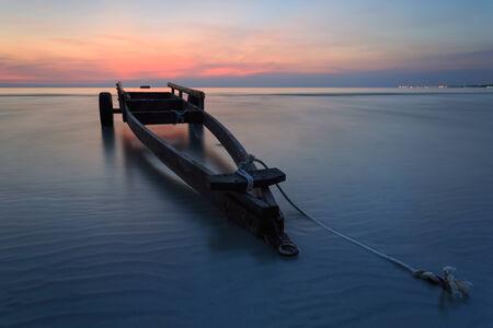 murk: The boat trailer at Kon Ao Beach, Rayong, Thailand