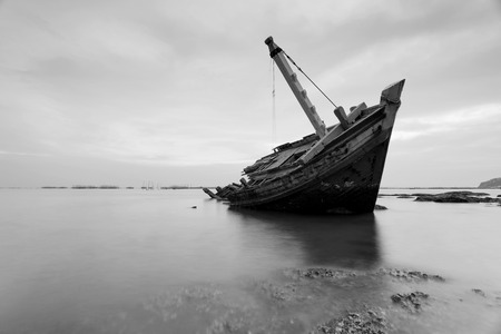 murk: The wrecked ship in black and white  , Thailand