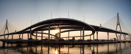 bhumibol: Panorama of Bhumibol Bridge , Thailand