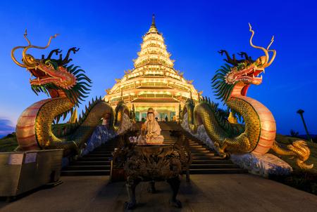 pla: Landmark Temple wat hyua pla kang (Chinese temple) Chiang Rai, Thailand