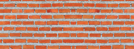 clinker tile: Red, Brown brick wall texture panorama