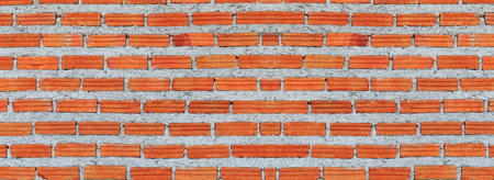 brick background: Red, Brown brick wall texture panorama