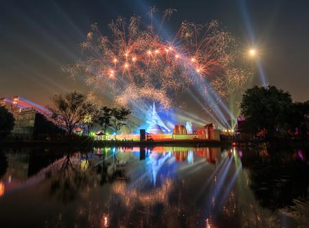 light show: Show Light and Firework at Thailand