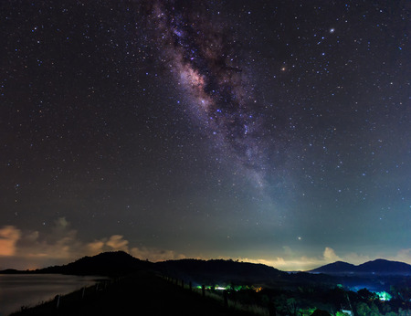 clearly: The clearly milky way fover the montain Stock Photo