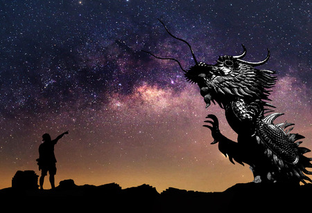 clearly: The clearly milky way and silhouette Dragon