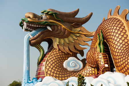 Golden Dragon at Suphanburi, Thailand,Travel for advertisers