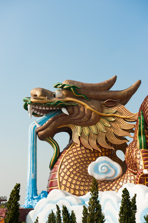 golden Dragon at Suphanburi, Thailand,Travel for advertisers photo
