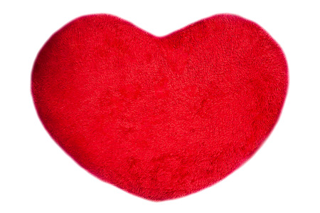 Heart-shaped pillow for Christmas