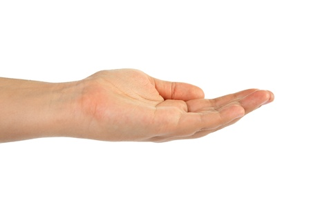 hand on a white background Stock Photo - 13913653