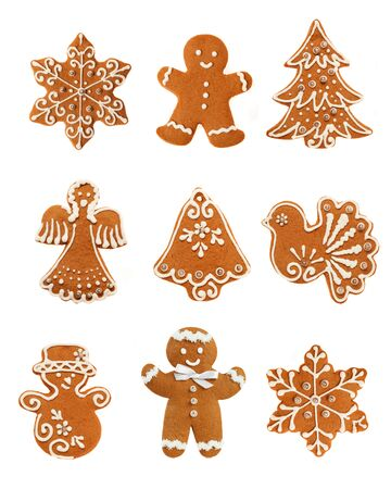 Gingerbread Christmas Set Stock Photo - 24236526