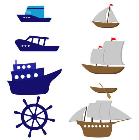 Set of sea vector
