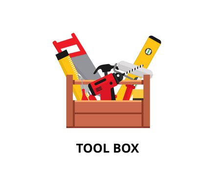 Set isolated icons set building tools repair. Vector illustration.