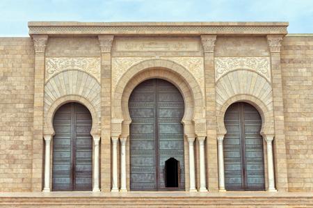 Entrance of Malik ibn Anas Mosque in Carthage, Tunisia