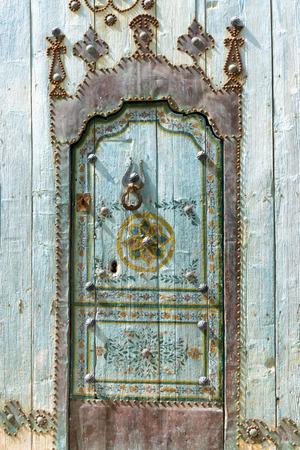 Beautiful decorated door in Sousse, Tunisia.