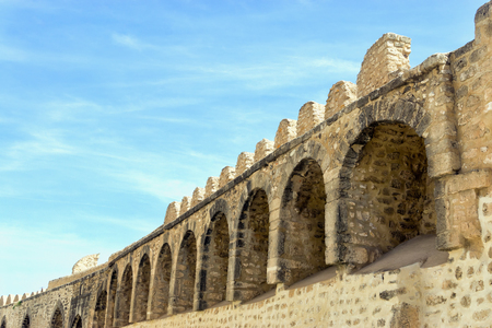 Top of the old city walls of Sousse, Tunisia.