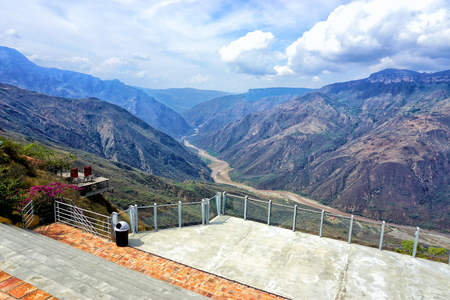 Landscape of Chicamocha canyon from Panachi in Santander, Colombia