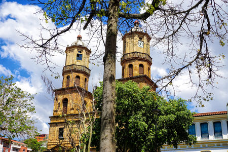 Beautiful landscape of San Gil Cathedral in Santander, Colombia