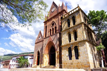Facade of church of Valle de San Jose, Santander,  Colombia