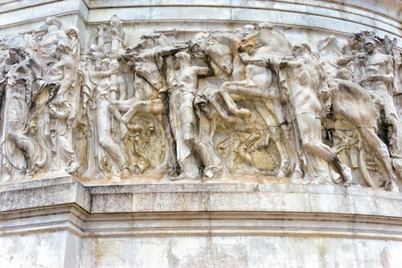 Details of the allegory of patriotism at the Monument to Vittorio Emanuele II in Rome, Italy