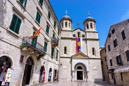 KOTOR, MONTENEGRO - JULY 8: Church of St. Nicholas,Kotor in Montenegro,Europe on July 8, 2018