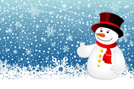 Snowman christmas Stock Vector - 4072165