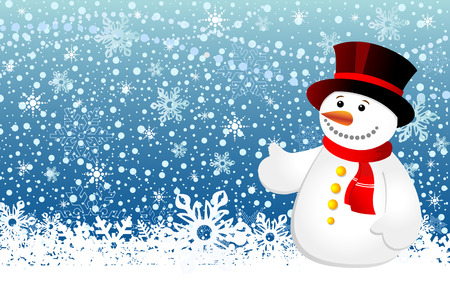 Snowman christmas Illustration