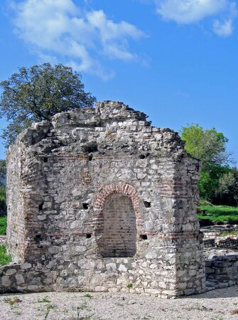 turistic: ruin with archeological and cultural values Stock Photo