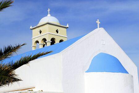 traditiional: traditiional orhtodox church of Platanias Stock Photo