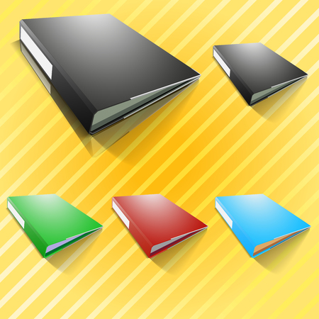 File in many colors, black, red, blue, green and change color very easy  Vector