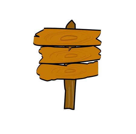 wooden post: Wooden signs vector post