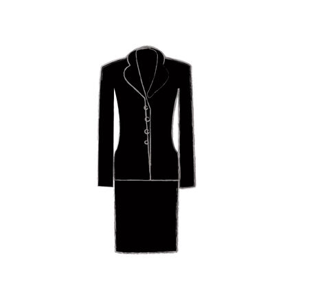 womens work: Ladies suit jacket for business women (front views). Formal work wear. Vector illustration.