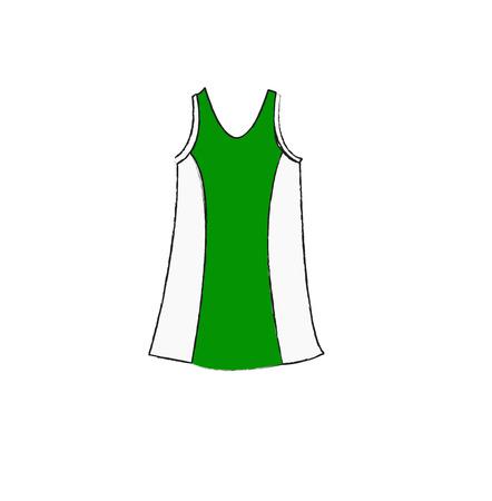 singlet: Singlet white green vector Stock Photo