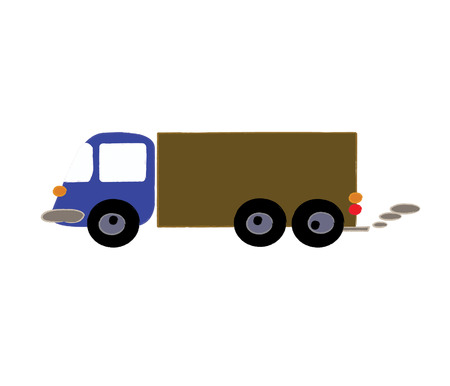 Commercial Delivery  Cargo Truck  isolated on white photo