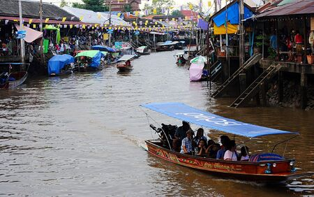 Floating Market Reklamní fotografie