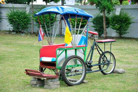 show garden: Tricycle show in temple garden Stock Photo