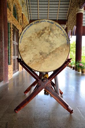 Drum of temple in thailand photo